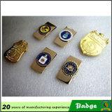 Clip su ordinazione del distintivo del metallo dell'oro