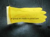 Желтый резиновые перчатки для домашних хозяйств, услуги прачечной и химчистки