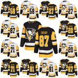 2018 nuovi pinguini 87 Sidney Crosby della signora Kid Pittsburgh degli uomini di marca 58 pullover su ordinazione del hokey di Kris Letang Phil Kessel Evgeni Malkin Kevin Czuczman Frank Corrad