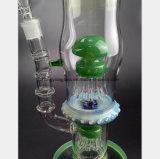 Filtre de pipe de fumée en verre vert réutilisant la conduite d'eau en verre