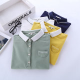 Cotton Sweet Students Polo Shirt Made in Clouded