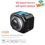 Wasserdichte 12MP/Vr360 Portable-Sport-Vorgangs-Kamera 220 Grad Ultra-Breite des Objektiv-1440p/30fps WiFi Uhr-Ferncontroller-Radioapparat-Videokamera-