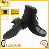 De nieuwe Model Zwarte Laarzen van de Enkel van het Leger van het Leer van de Kleur Echte Militaire