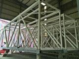 正方形の管の鉄骨フレームが付いているモジュラー建物の鉄骨構造の空気橋