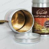 barattolo di latta di alluminio del tè 400ml con stampa del Silkscreen sul coperchio