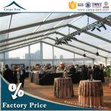 Tenda de jardim transparente econômica e tamanho personalizado para banquete de 300 pessoas