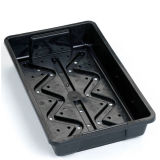 Plastic Growing Tray Seedling Tray, Greenhouse Hydroponic Plastic Tray Wholesale