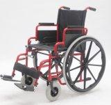 Manuel en acier, se pliant, fauteuil roulant, (YJ-005C)