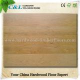 La couleur légère de fournisseur de Foshan a balayé le plancher de bois dur machiné par chêne