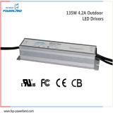 alimentazione elettrica impermeabile corrente costante esterna di 135W 4.2A LED
