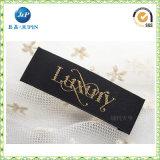 La vente en gros tissée étiquette le code d'escompte les étiquettes en soie pour le vêtement (JP-CL048)
