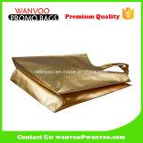 大きいPPは金のロゴの習慣のNonwovenショッピング・バッグを薄板にした
