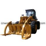 Затяжелитель колеса машинного оборудования конструкции Zl50 с древесиной сражается