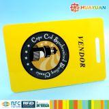 Etiqueta de crachás de identificação 13.56MHz impresso UID MIFARE Classic 1K RFID Cartão inteligente