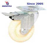 Mittlerer Aufgaben-Minischwenker-Nylonfußrolle mit seitlicher Bremse