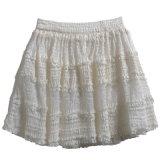 Высокое качество Леди Designer Vintage кружева юбка с оборками