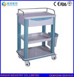 Высокое качество мебели больницы АБС использования в чрезвычайных ситуациях медицинское лечение тележки и тележки