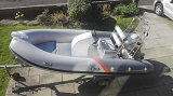 Barco inflável rígido do reforço de Aqualand 14feet/barco de rio (RIB430A)