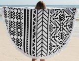 Tovagliolo rotondo caldo Microfiber o 100% di vendita del cotone della stampa reattiva su ordinazione di spiaggia