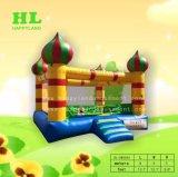 多彩な蝶弾力がある城の子供のための跳躍の家の膨脹可能な警備員
