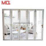 Алюминиевая Bifold дверь для напольной стеклянной двери складчатости