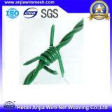 Покрынный PVC гальванизированный колючий провод обеспеченностью провода утюга