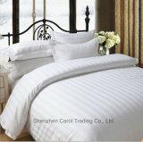 Conjunto del lecho de ropa de cama de la base del hotel del modelo rayado del algodón