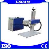 De Machine die van de Teller van de Laser van de vezel op de water-Kraan van het Metaal merken Acryl