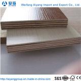 1220*2440mm álamos núcleo comercial de madera contrachapada de melamina de 18mm