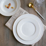 Witte Hoogwaardige Ceramisch van de Plaat van het Lapje vlees van het Been van de Plaat van het Porselein