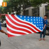 アイレットおよび印刷(TJ-MB-016)を用いる屋外の旗PVCビニールの網