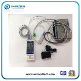 Animal/Vet utiliza o oxímetro de pulso portátil com funções de SpO2+Temp