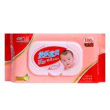 Wipe Non-Woven чувствительного противобактериологического младенца хлопка 100 PCS влажный
