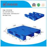 1200*1000*150mm Vlak Op zwaar werk berekend Plastic HDPE van de Pallet Rackable Plastic Dienblad met 3 Agenten (vlakke zg-1210)