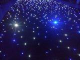 Cortina de la estrella de LED de luz azul y blanco para la boda como telón de fondo