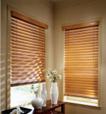 Ruban d'échelle de revêtement de surface UV 50 mm, inclinaison du cordon, profilé en métal à profil élevé Fenêtre Stores en bois