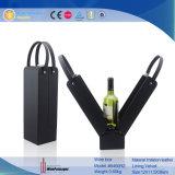 Vente en gros en bois de boîte à vin de papier et de cuir pour la vente en gros de vin