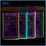 Accesorios fluorescentes del teléfono móvil del bolso impermeable del teléfono