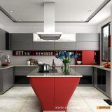 De moderne Uitstekende kwaliteit Aangemaakte Keukenkast van de Lak van het Glas Houten (OP15-L38)
