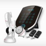 Домашняя система охранной сигнализации GSM + WiFi беспроводной домашней безопасности бизнеса с IP-камера