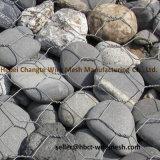 Maglia esagonale rivestita del PVC Gabion