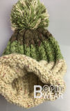 As mulheres quente POM personalizado Hat Winter Knit Beanie Hat