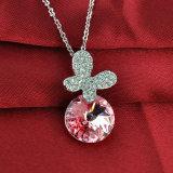 ハンドメイドの水晶方法宝石類のネックレスセットをめっきする卸し売り亜鉛合金ロジウム