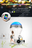 Esteuerte Bluetooth Birne des APP-Lautsprecher-E27 LED für Schlafzimmer