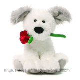 A Fábrica de Brinquedos Cão de pelúcia diretamente com o coração para o Dia dos Namorados