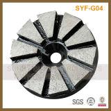 3 disco de moedura magnético do diamante do assoalho concreto de Seg da polegada 10