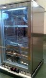 Único refrigerador de vinho do refrigerador da barra da parte traseira do aço inoxidável da porta do vértice