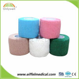 El algodón de la muestra libre se divierte el vendaje cohesivo elástico auto-adhesivo del color mezclado