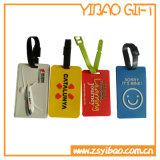 бирка багажа силикона способа персонализированная типом с изготовленный на заказ логосом