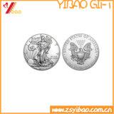 旧式な銀によってめっきされるカスタム記念品の硬貨(YB-LY-C-30)